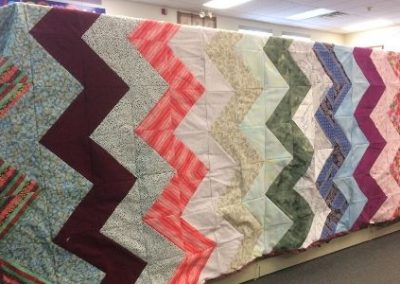 "Chevron Quilt- Queen size bed quilt 80"" x 100"""