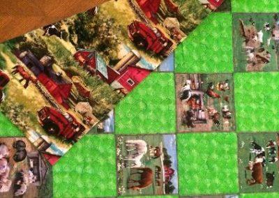 """Farm Quilt - Reversible lap quilt 36"""" x 42"""""""