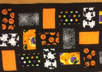 "Halloween Quilt- Table Runner 17"" x 51"""