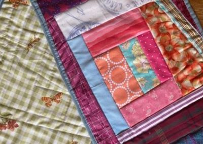 "Placemats - Set of 2 reversible crazy quilt 12"" x 19"""